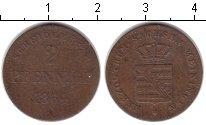 Изображение Монеты Саксен-Майнинген 2 пфеннига 1864 Медь VF