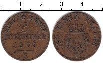 Изображение Монеты Пруссия 3 пфеннига 1863 Медь VF