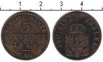 Изображение Монеты Пруссия 3 пфеннига 1860 Медь VF