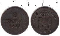 Изображение Монеты Саксония 2 пфеннига 1855 Медь VF