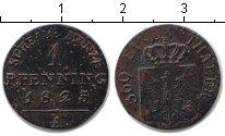 Изображение Монеты Пруссия 1 пфенниг 1825 Медь VF