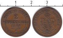 Изображение Монеты Саксония 2 пфеннига 1863 Медь XF