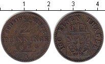 Изображение Монеты Пруссия 2 пфеннига 1856 Медь VF