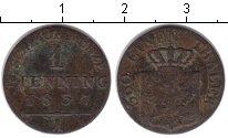 Изображение Монеты Пруссия 1 пфенниг 1837 Медь VF