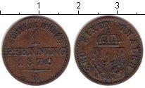 Изображение Монеты Пруссия 1 пфенниг 1870 Медь VF