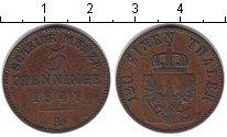 Изображение Монеты Пруссия 3 пфеннига 1847 Медь XF