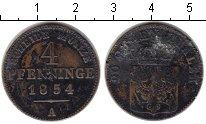 Изображение Монеты Пруссия 4 пфеннига 1854 Медь XF