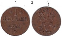 Изображение Монеты Франкфурт 1 хеллер 1821 Медь XF