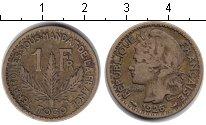Изображение Монеты Того 1 франк 1926 Медь XF