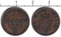 Изображение Монеты Пруссия 1 пфенниг 1867 Медь XF