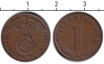 Изображение Монеты Третий Рейх 1 пфенниг 1937 Медь XF A