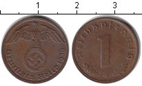 Изображение Монеты Третий Рейх 1 пфенниг 1939 Медь XF