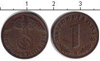 Изображение Монеты Третий Рейх 1 пфенниг 1939 Медь XF D