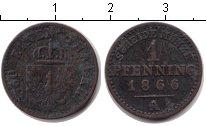 Изображение Монеты Пруссия 1 пфенниг 1866 Медь VF