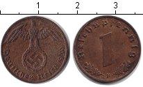 Изображение Монеты Третий Рейх 1 пфенниг 1939 Медь XF F