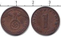 Изображение Монеты Третий Рейх 1 пфенниг 1938 Медь XF E