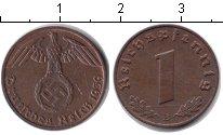 Изображение Монеты Третий Рейх 1 пфенниг 1939 Медь XF B