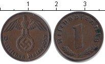 Изображение Монеты Третий Рейх 1 пфенниг 1937 Медь XF F