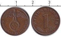 Изображение Монеты Третий Рейх 1 пфенниг 1940 Медь VF А