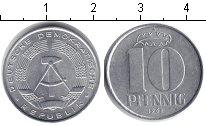 Изображение Монеты ГДР 10 пфеннигов 1968 Алюминий XF