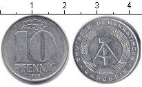 Изображение Монеты ГДР 10 пфеннигов 1978 Алюминий XF