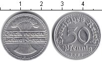 Изображение Монеты Веймарская республика 50 пфеннигов 1921 Медь XF