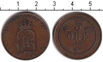 Изображение Монеты Швеция 5 эре 1903 Медь  Оскар II