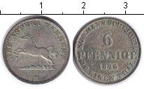 Изображение Монеты Ганновер 6 пфеннигов 1846 Серебро XF