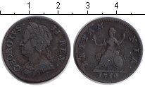 Изображение Монеты Великобритания 1 фартинг 1754 Медь