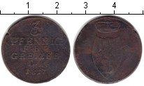 Изображение Монеты Рейсс 3 пфеннига 1817 Медь VG