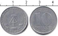 Изображение Монеты ГДР 10 пфеннигов 1973 Алюминий VF