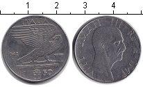 Изображение Монеты Италия 50 сентесим 1942 Железо XF