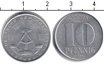Изображение Монеты ГДР 10 пфеннигов 1971 Алюминий XF
