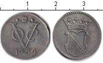 Изображение Монеты Нидерландская Индия 1/2 дьюита 1754 Серебро XF Соединенная Вестинди