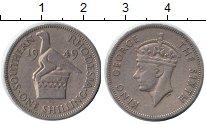 Изображение Монеты Родезия 1 шиллинг 1949 Медно-никель XF