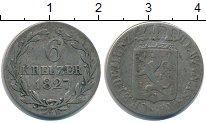 Изображение Монеты Нассау 6 крейцеров 1827 Серебро