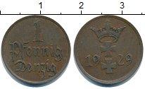 Изображение Монеты Данциг 1 пфенниг 1929 Медь