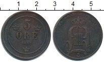 Изображение Монеты Швеция 5 эре 1883 Медь  Оскар II.