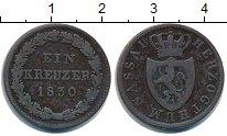 Изображение Монеты Нассау 1 крейцер 1830 Медь