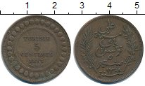 Изображение Монеты Тунис 5 сентим 1891 Медь