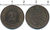 Изображение Монеты Германия 2 пфеннига 1877 Медь XF