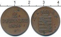 Изображение Монеты Саксен-Майнинген 2 пфеннига 1850 Медь XF