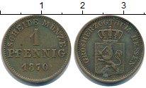 Изображение Монеты Гессен 1 пфенниг 1870 Медь XF