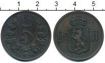 Изображение Монеты Норвегия 5 эре 1878 Медь XF