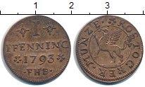 Изображение Монеты Росток 1 пфенниг 1793 Медь