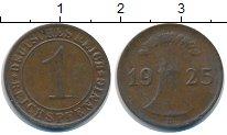 Изображение Монеты Веймарская республика 1 пфенниг 1925 Медь