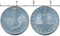 Изображение Монеты Италия 1 лира 1956 Алюминий UNC-