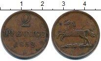 Изображение Монеты Брауншвайг-Вольфенбюттель 2 пфеннига 1852 Медь XF