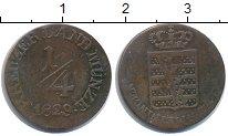 Изображение Монеты Саксен-Майнинген 1/4 крейцера 1829 Медь