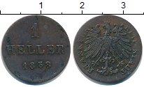 Изображение Монеты Франкфурт 1 геллер 1858 Медь
